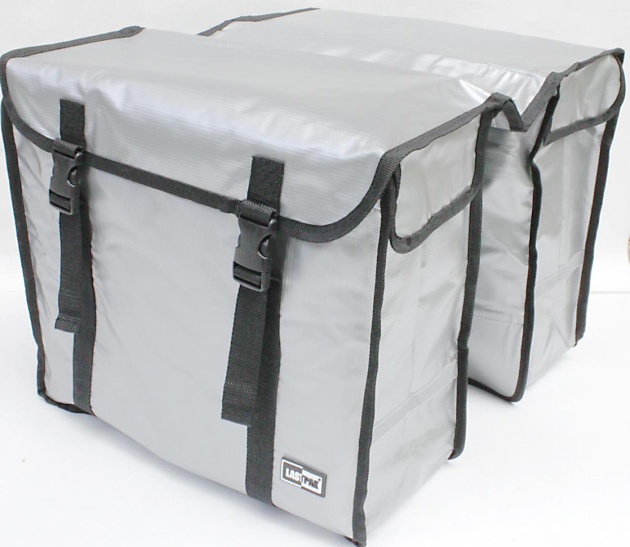 große 46 liter TREKKING FAHRRADTASCHE GEPÄCKTASCHE Doppelpacktasche aus BISONYL